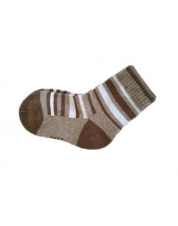 Носки верблюжьи коричневые с рисунком