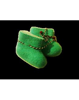 Пинетки войлочные зеленые