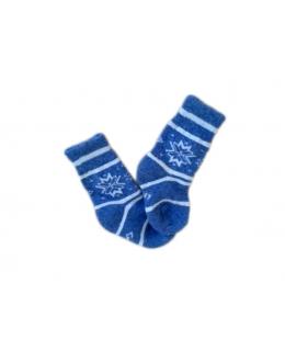 Носки верблюжьи синие с рисунком